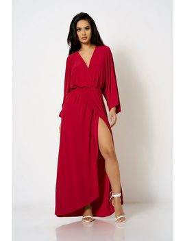 **Wrap Over Kimono Sleeve Dress By Club L by Topshop