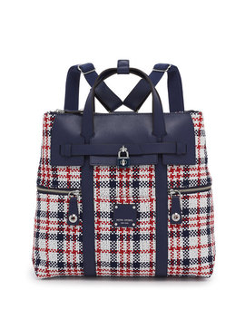 Jetsetter Convertible Plaid Backpack by Henri Bendel