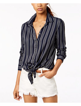 Juniors' Suburb Vibes Striped Button Up Shirt by Roxy