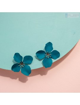 Flower Earrings, Statement Stud Earrings, Floral Earrings, Spring Color Earrings, Bridesmaid Earrings, Birthday Gift, by Cotacoco