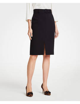 Petite Belted Pencil Skirt by Ann Taylor