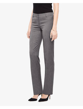 The Petite Straight Leg Pant In Sharkskin by Ann Taylor