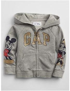 Baby Gap  Disney Baby Mickey Mouse Embellished Zip Hoodie by Gap
