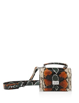 Emily Snake Embossed Leather Mini Crossbody by The Kooples