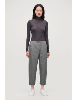 Twisted Seam Wool Trousers by Cos