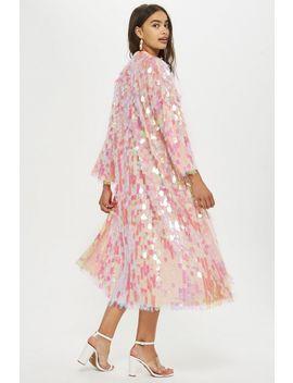Sequin Maxi Kimono by Topshop