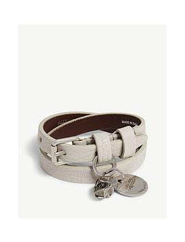 Double Wrap Leather Bracelet by Alexander Mcqueen