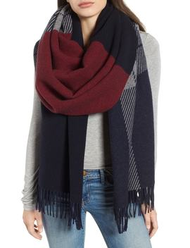 Mixed Check Wool Blend Scarf by Rag & Bone