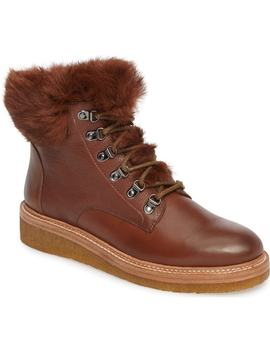 Winter Genuine Rabbit Fur Trim Boot by Botkier
