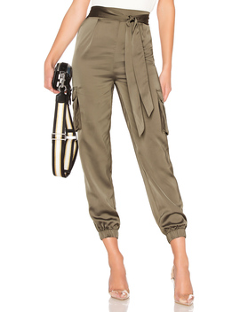 Rachel Satin Cargo Pants by About Us