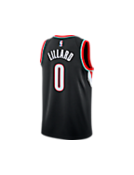 Men's Nike Portland Trail Blazers Nba Damian Lillard Icon Edition Connected Jersey by Nike