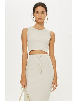 Ribbed Crop Top And Tube Skirt Set by Topshop