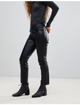 Cheap Monday   Pantalon Court Coupe Slim En Similicuir by  Cheap Monday