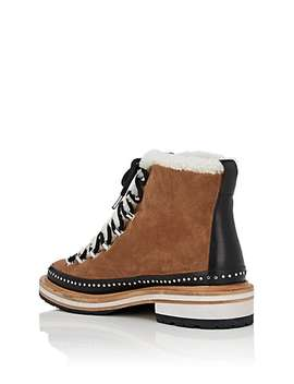 Compass Suede & Shearling Ankle Boots by Rag & Bone