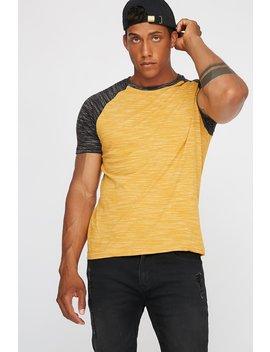 Space Dye Colour Block T Shirt by Urban Planet