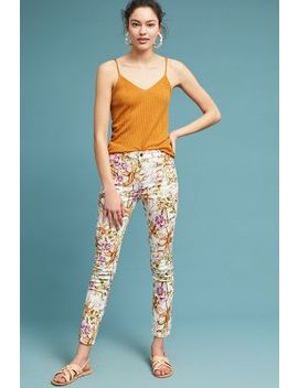 Jen7 By 7 For All Mankind Havana Tropics High Rise Skinny Ankle Jeans by Jen7 By 7 For All Mankind