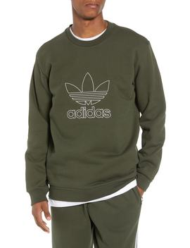 Adidas Outline Trefoil Crewneck Sweatshirt by Adidas Originals