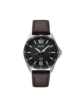Seiko Men's Leather Solar Watch   Sne487 by Kohl's