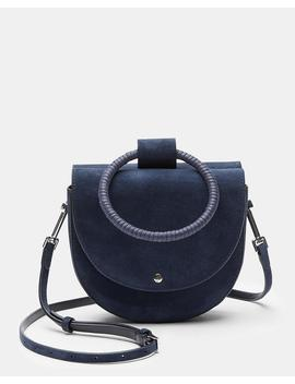 Whitney Bag With Cord Wax Hoop In Suede by Theory