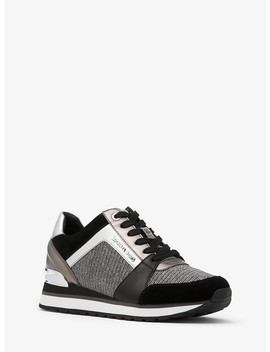 Billie Chain Mesh And Leather Sneaker by Michael Michael Kors