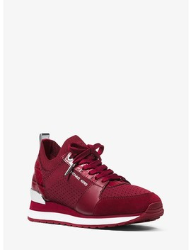 Billie Knit And Leather Sneaker by Michael Michael Kors