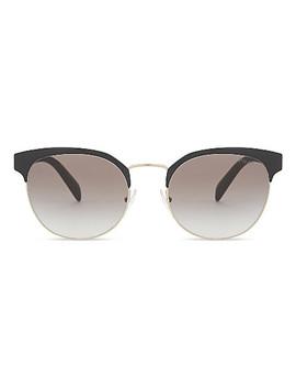 Pr61 Ts Phantos Round Frame Sunglasses by Prada
