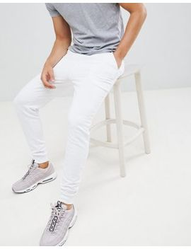 Asos Design Skinny Joggers In White by Asos Design