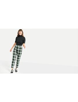 Bert Tartan Check Peg Trouser by Nobody's Child