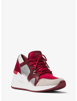 Liv Leather And Satin Trainer by Michael Michael Kors
