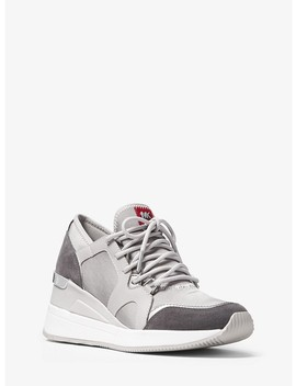 Liv Canvas And Leather Trainer by Michael Michael Kors