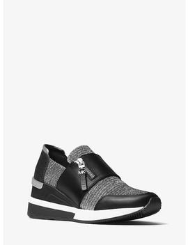 Chelsie Glitter Mesh Sneaker by Michael Michael Kors
