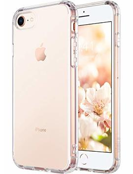 Ulak I Phone 8 Case Clear, I Phone 7 Case, Clear Slim Fit Premium Hybrid Shock Absorbing & Scratch Resistant Clear Case Cover Hard Back Panel+Tpu Bumper For Apple I Phone 8 & I Phone 7 4.7 Inch  Hd Clear by Ulak