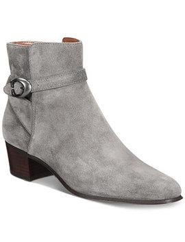 Chrystie Stacked Heel Booties by Coach