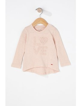 Baby Girl Love Lace Embroidered Long Sleeve by Urban Planet