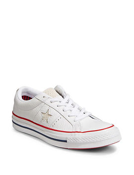 New Heritage One Star Leather Sneakers by Converse