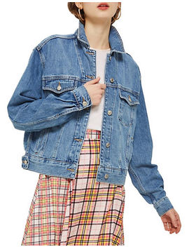Tall Moto Oversized Boxy Jacket by Topshop