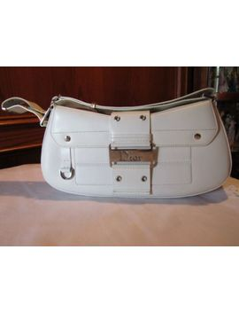 Jp10   Christian Dior Street Chic White Leather Columbus Bag With Card Euc by Dior