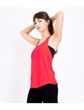 Red Racer Back Sports Vest by New Look