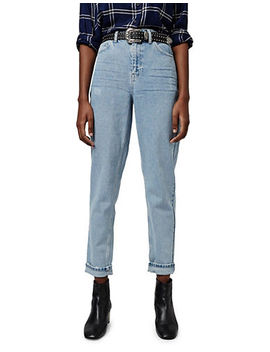 Moto Bleach Mom Jeans 32 Inch Leg by Topshop