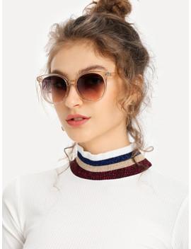 Mirror Lens Cat Eye Sunglasses by Shein