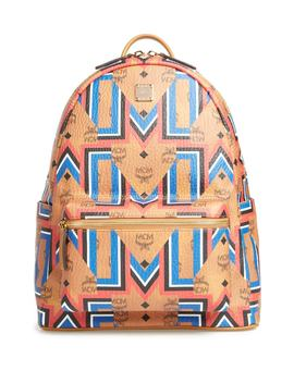 Stark Gunta Visetos Print Faux Leather Backpack by Mcm