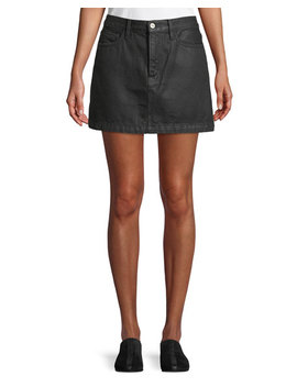 Le Mini Denim A Line Skirt by Frame