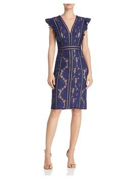 Ruffled Lace Dress by Tadashi Shoji