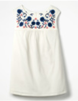 Portia Embroidered Top by Boden