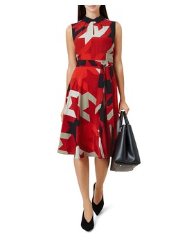 Kelsie Houndstooth Print Dress by Hobbs London