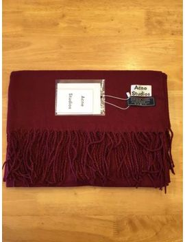 Acne Studios Canada Scarf Red Wine  Ships Immediately by Acne Studios