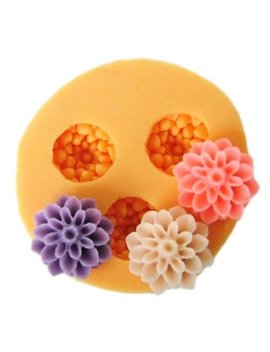 Allforhome 3 Cavities 1.5cm Mini Flower Sculpting Silicone Sugar Resin Craft Diy Moulds Gum Paste Cake Decorating Fondant Mold by Allforhome