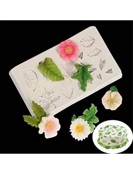 Hengsong Silicone Leaves Flower Shaped Fondant Mould Baking Sugarcraft Candy Cake Decorating Mold (Grey) by Hengsong
