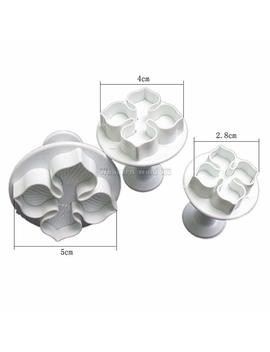Wocharm (Tm) Fondant Cake Cookie Sugarcraft Icing Cutter Plunger Decorating Baking Christmas Tool Mould Snowflake Holly Leaf Star Heart Cutter (Hydrangea) by Wocharm