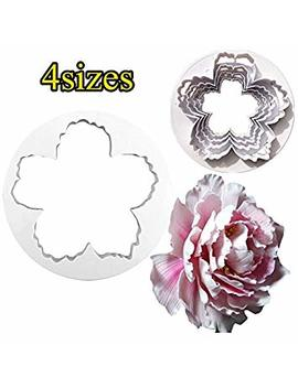 Peony Flowers Petal Cutter Tool Cake Decorating Sugar Craft Fonant Icing Mould by Lh